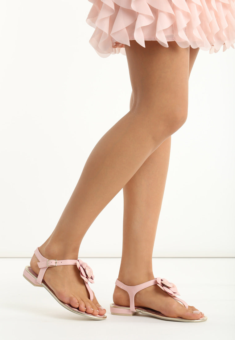 Jacqueline Flat Sandal - Beige, Black, Grey, Pink, Red, White