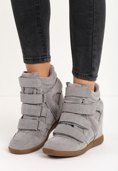 LILLIAN Wedge Sneaker - Grey
