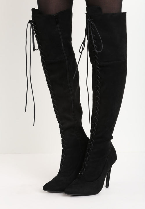 Barbara Over The Knee Boot - Black