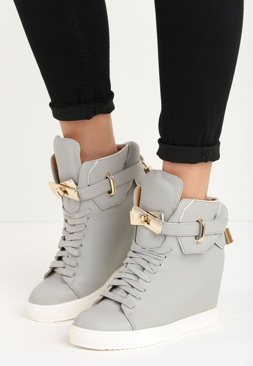 Ashley Wedge Sneaker - Grey
