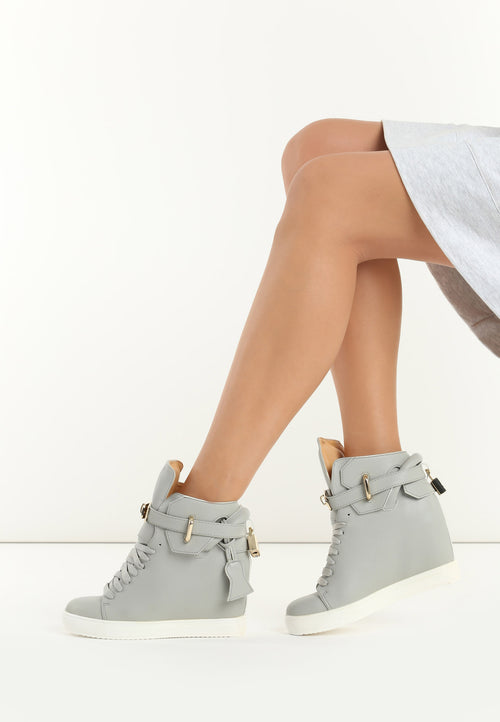 010e0fee9 Ashley Wedge Sneaker - Grey