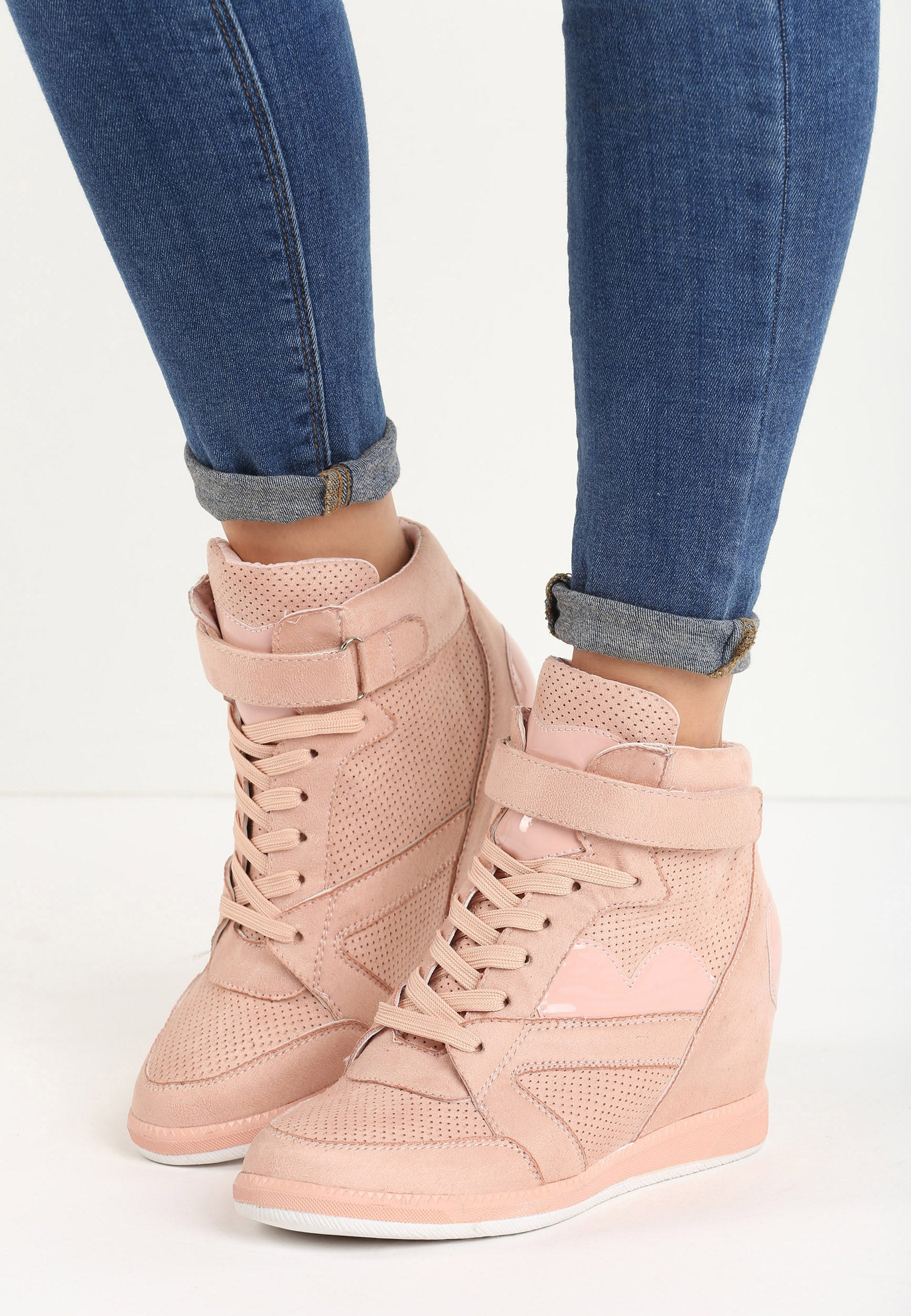Kimberly Wedge Sneaker - Pink