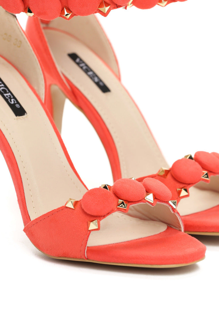 Christina High Heel Sandal - Orange