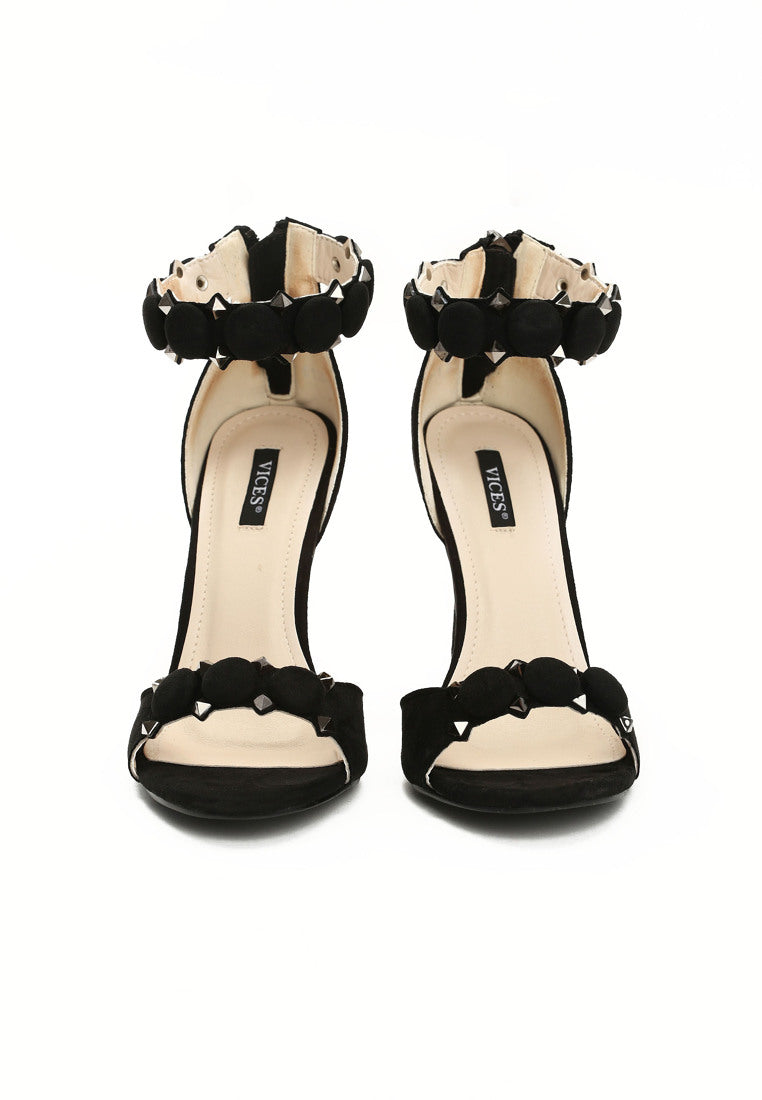 Christina High Heel Sandal- Black