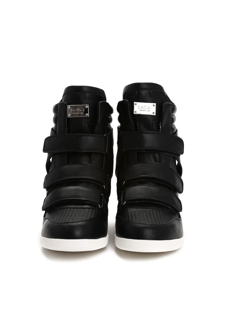 Annie Wedge Sneaker - Black – Vices USA