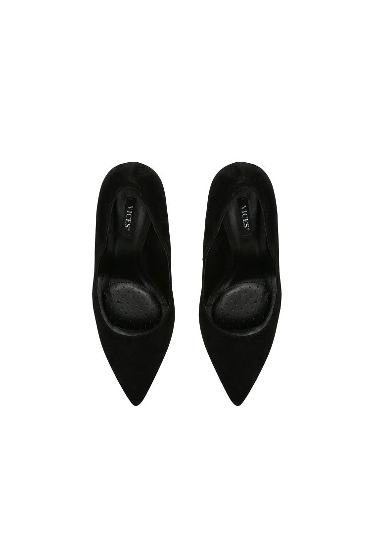 Jean High Heel Pump - Black