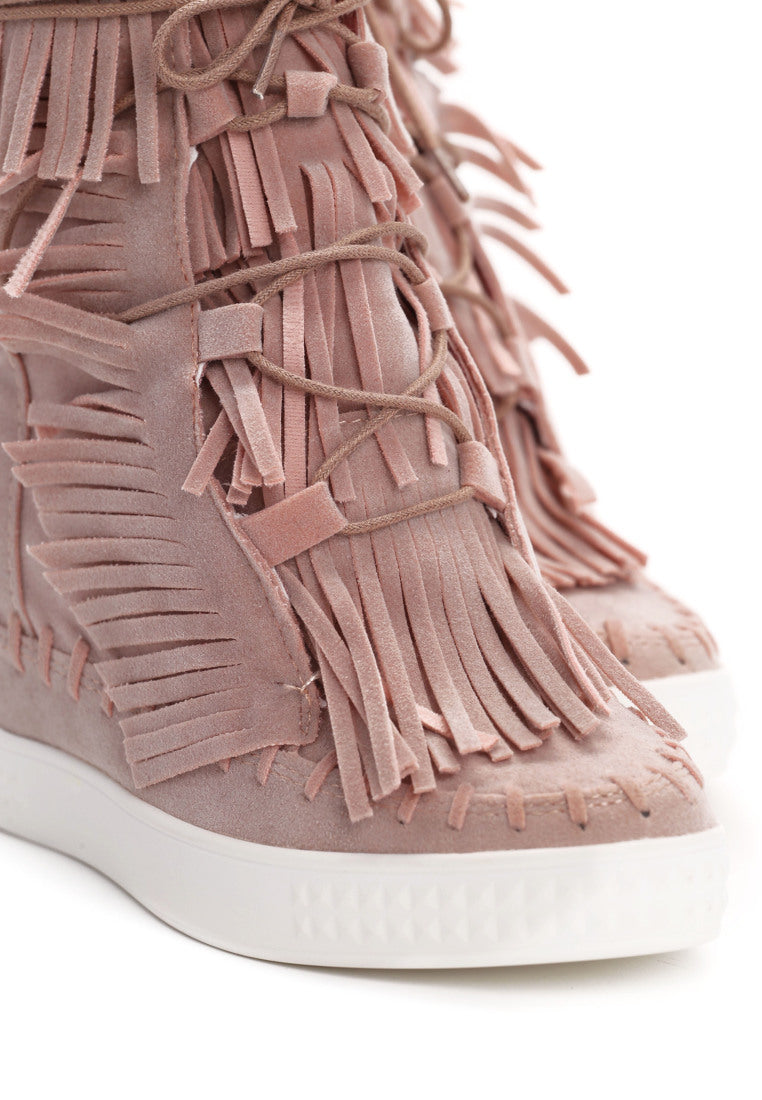 ff76aa48d7ef Patricia Wedge Sneaker - Pink – Vices USA