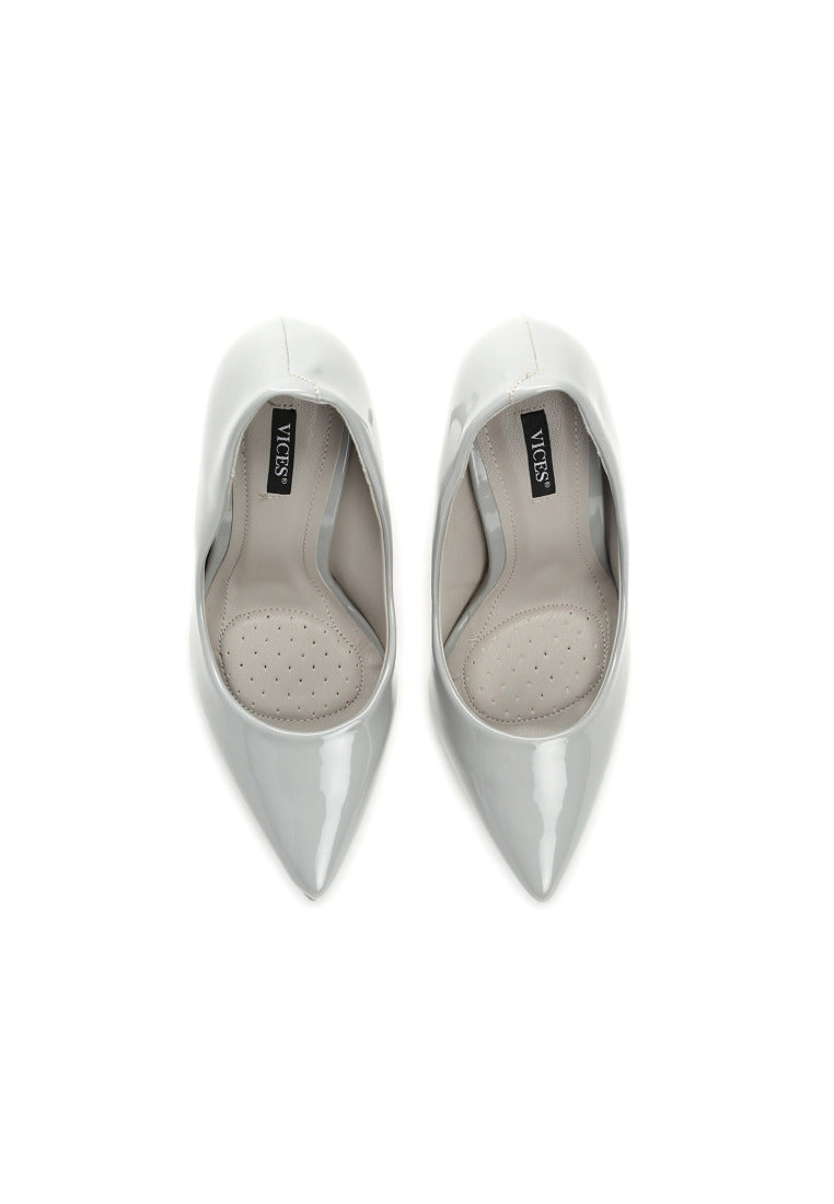 Tina High Heel Pump - Grey