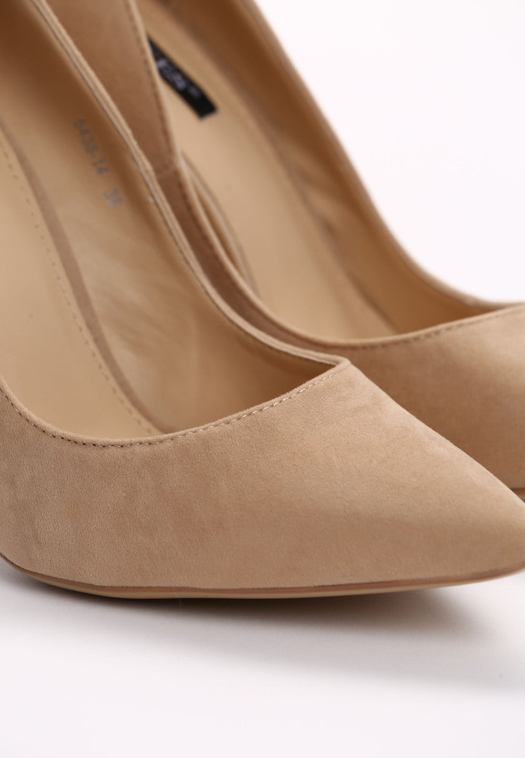 Jean High Heel Pump - Beige