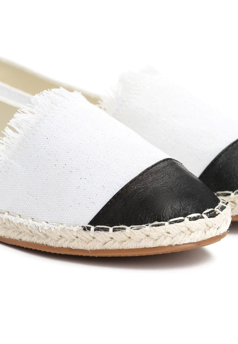 Theresa Espadrilles - White and Black