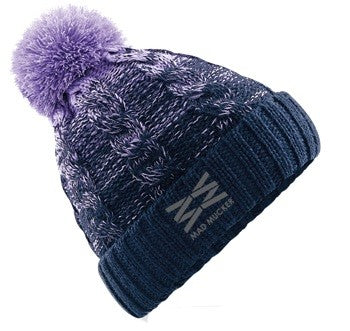 Beatrice Bobble Hat - Purple