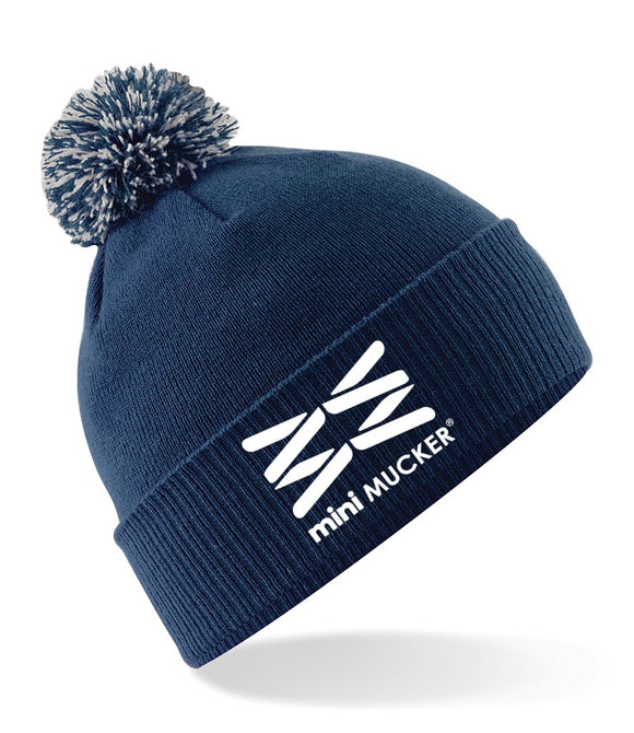 Bertie Bobble Hat - Navy