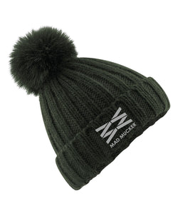 Betsy Bobble Hat - Olive Green