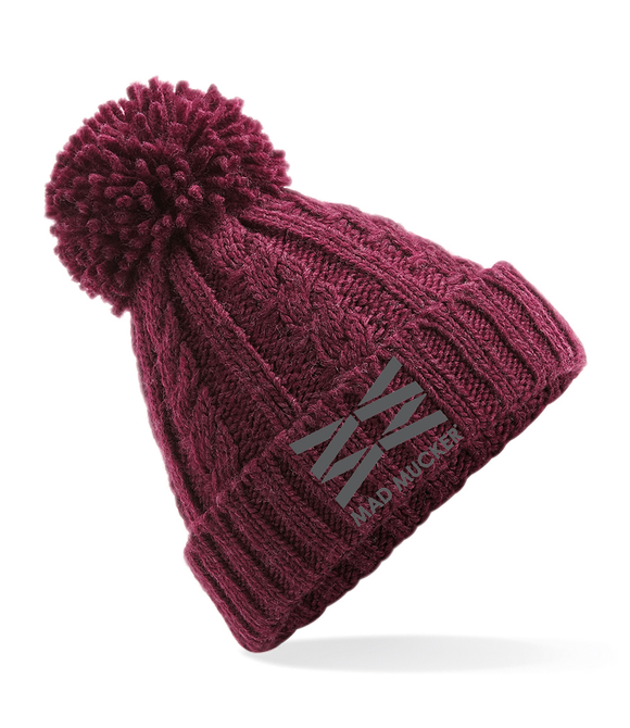 Briar Bobble Hat - Mulberry