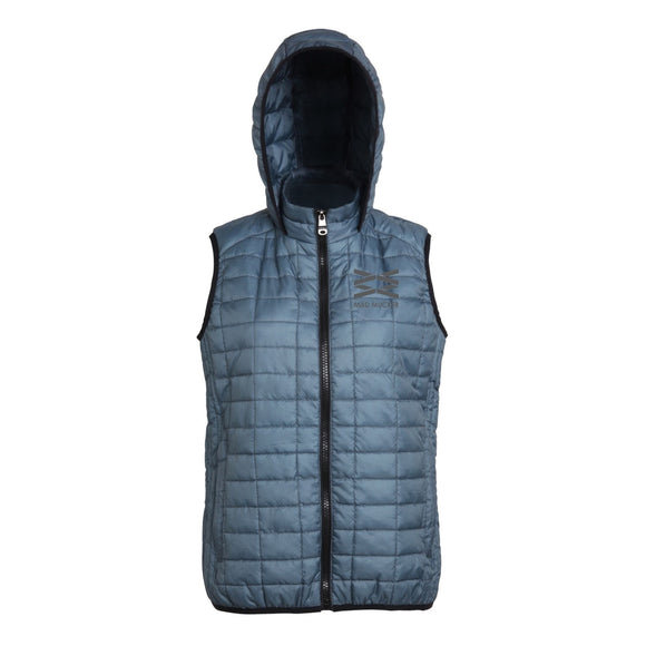 Mabel Hooded Gilet - Slate Blue
