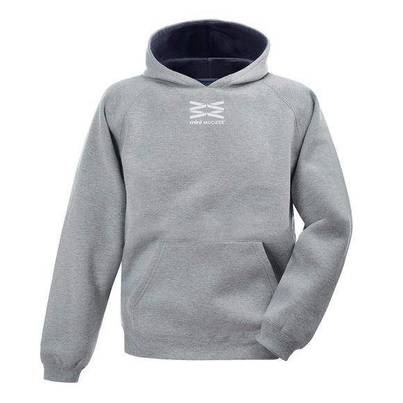 Kids Arion Heavyweight Hoodie - Sport Grey/Navy