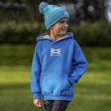 Kids Arion Heavyweight Hoodie - Cyan/Grey