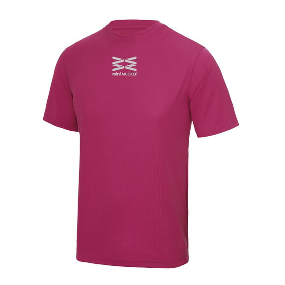 Lucca Kid's Performance T - Hot Pink