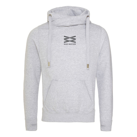 Aspen Sport Grey Cross Neck Hoodie