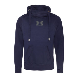 Aspen Oxford Navy Cross Neck Hoodie