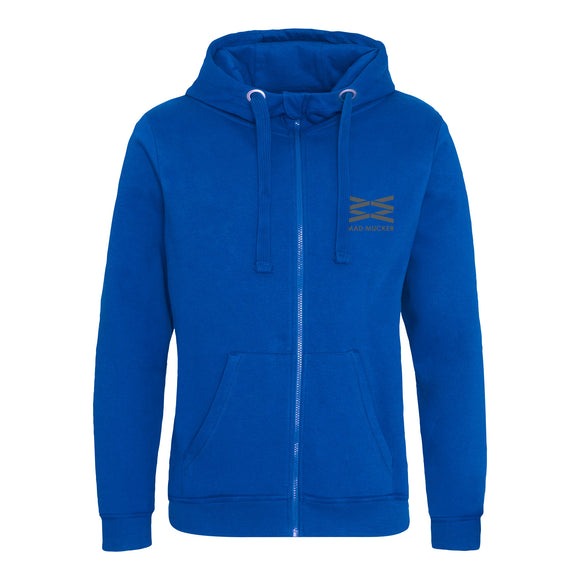 Aaron Heavyweight Zip Hoodie - Royal Blue