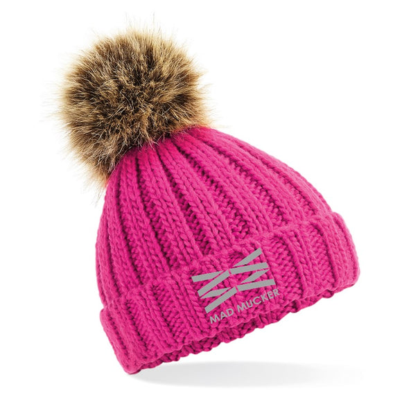 Kids Barney Bobble Hat - Pink