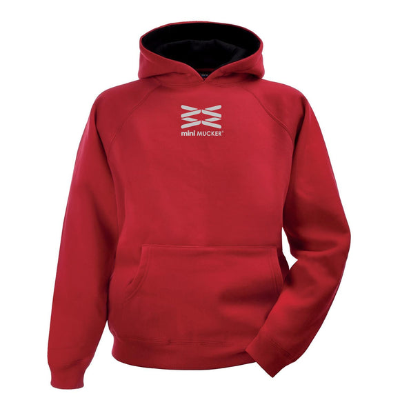 Kids Arion Heavyweight Hoodie - Red/Black