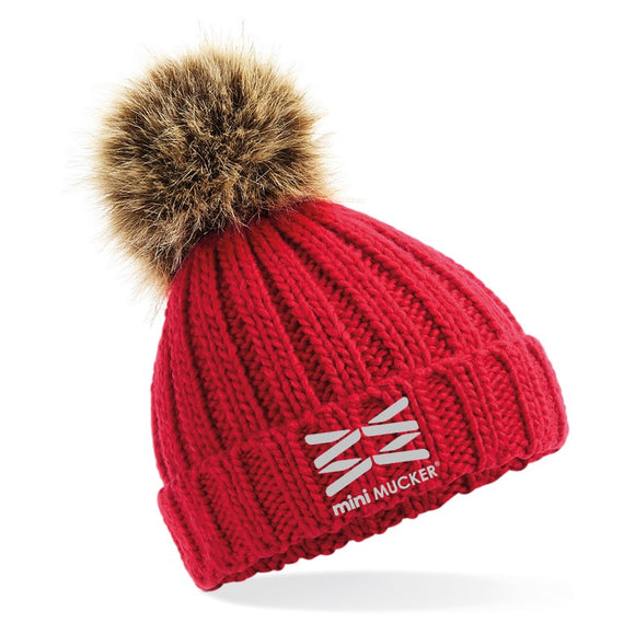 Kids Barney Bobble Hat - Red