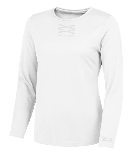 Layla Sparkles - White (Long Sleeve)