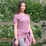 Lexi Cotton T-Shirt - Damson Pink