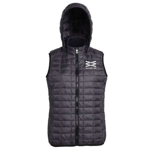Mabel Hooded Gilet - Black