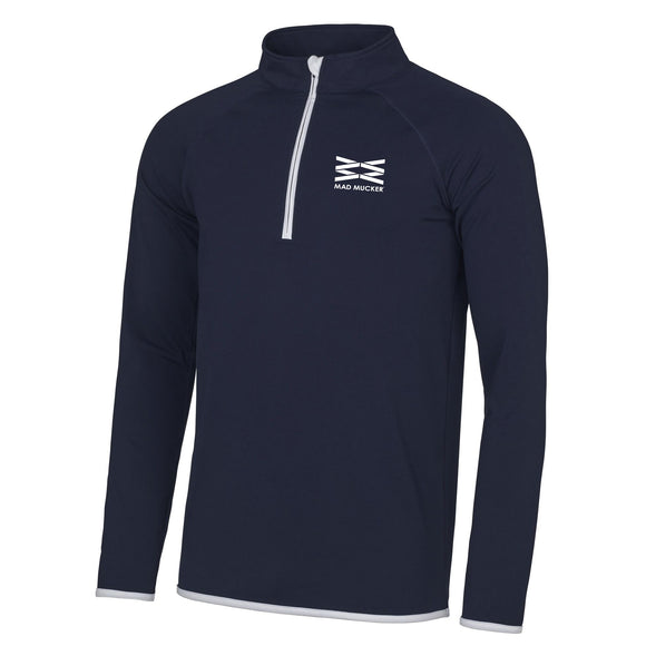 Zenith Unisex Zip Neck Sports Top