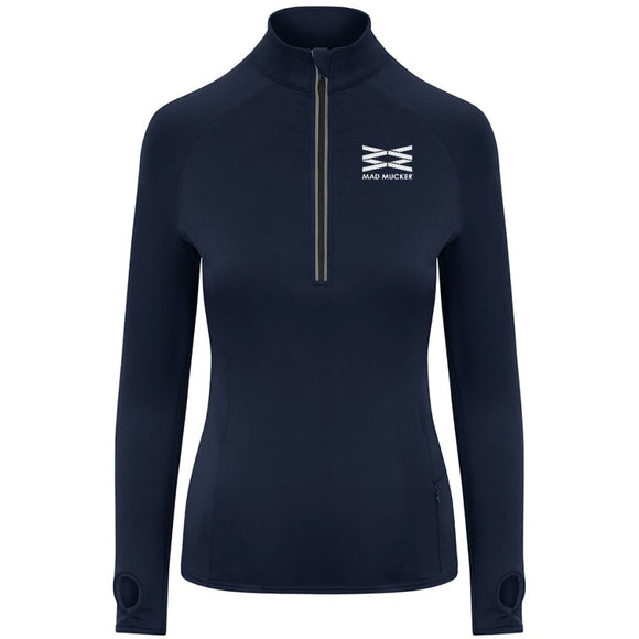 Zoe Zip Neck - French Navy