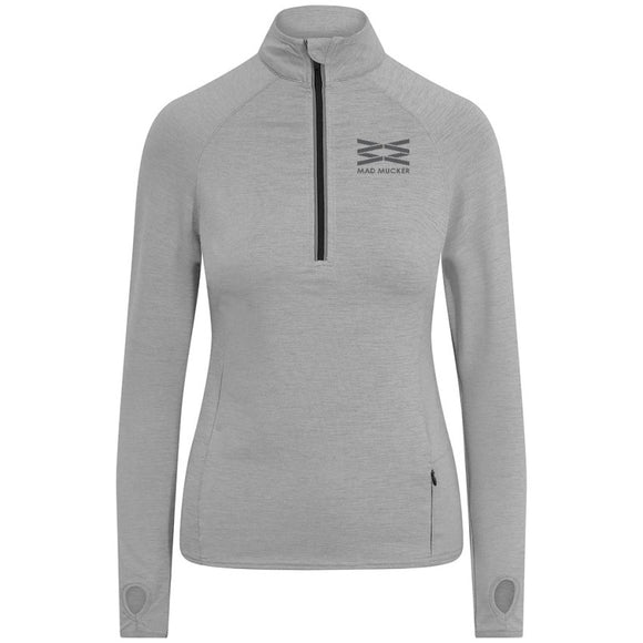 Zoe Zip Neck - Sport Grey