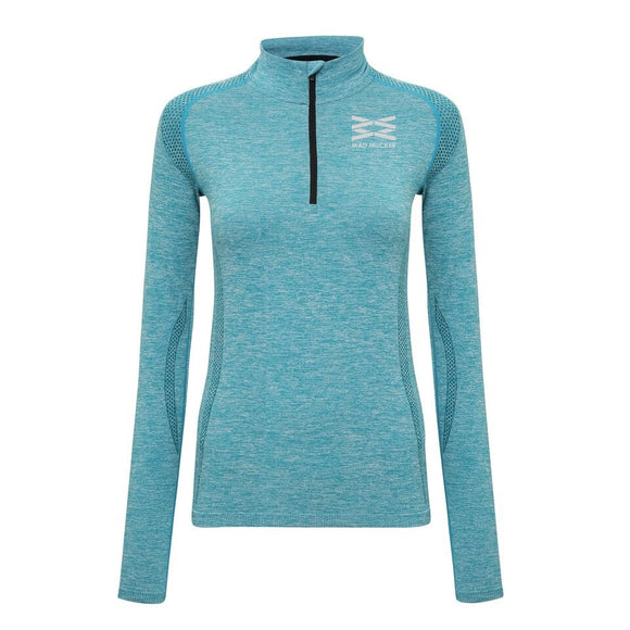Kirstie Zip Neck T - Teal