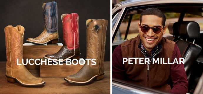 Oct. 11 & 12 -Trunk Shows with Peter Millar Clothing and Lucchese Custom Bootmaker