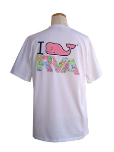 Vineyard Vines I Whale RVA Custom Tee | White