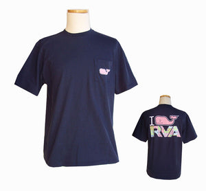 Vineyard Vines I Whale RVA Custom Tee | Navy