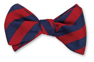 R. Hanauer Navy/ Red Bar Stripes Bow Tie