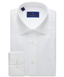David Donahue Royal Oxford Dress Shirt Regular Fit | White