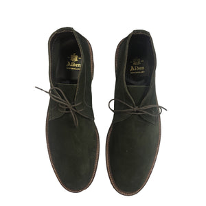Alden Unlined Chukka Boot-Hunting Green Suede
