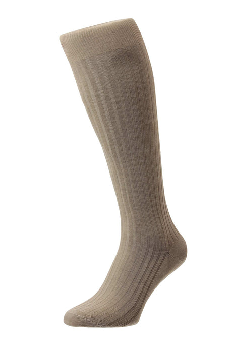 Pantherella Rib Men's Sock Long – Camel
