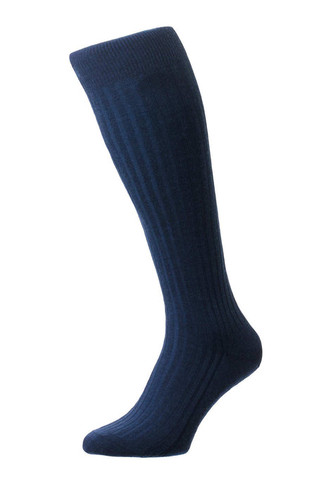 Pantherella Rib Men's Sock Long – Blue