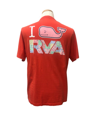 Vineyard Vines I Whale RVA Custom Tee | Strawberry