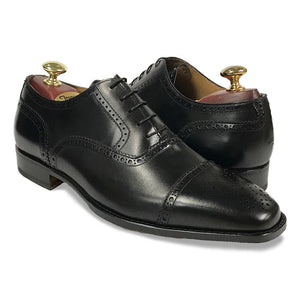 Romano Martegani Perforated Cap Toe - Black