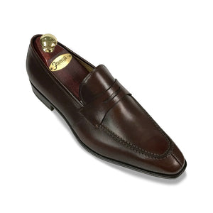 Romano Martegani Split Toe Penny Loafer -  Brown