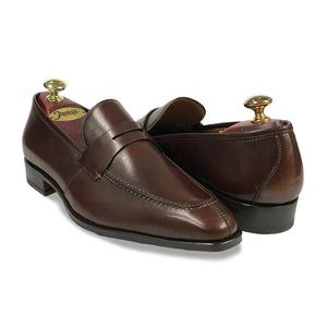 Split Toe Penny Loafer -  Brown