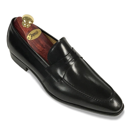 Romano Martegani Split Toe Penny Loafer - Black