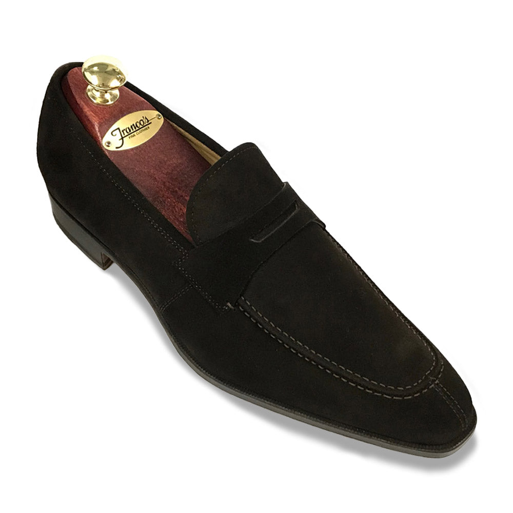 Romano Martegani Split Toe Penny Loafer - Chocolate