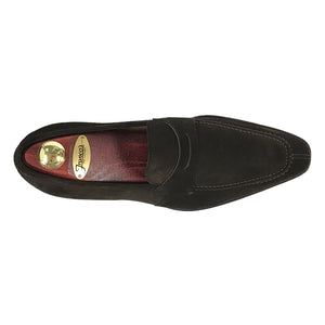 Split Toe Penny Loafer - Chocolate
